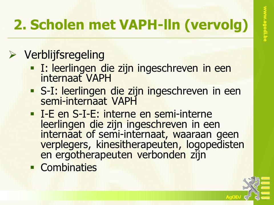 2. Scholen met VAPH-lln (vervolg)