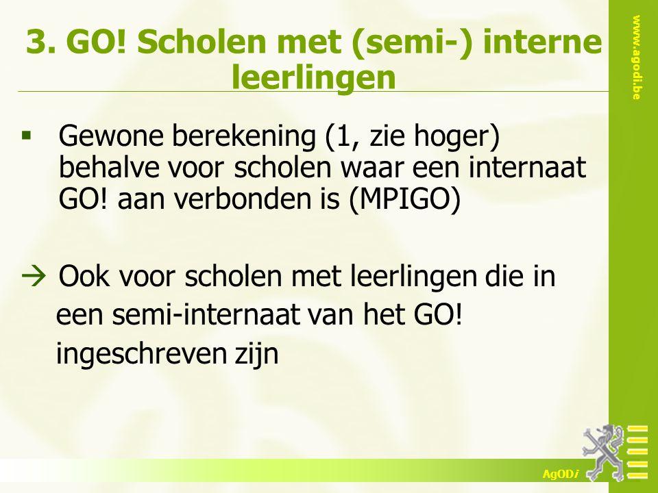3. GO! Scholen met (semi-) interne leerlingen