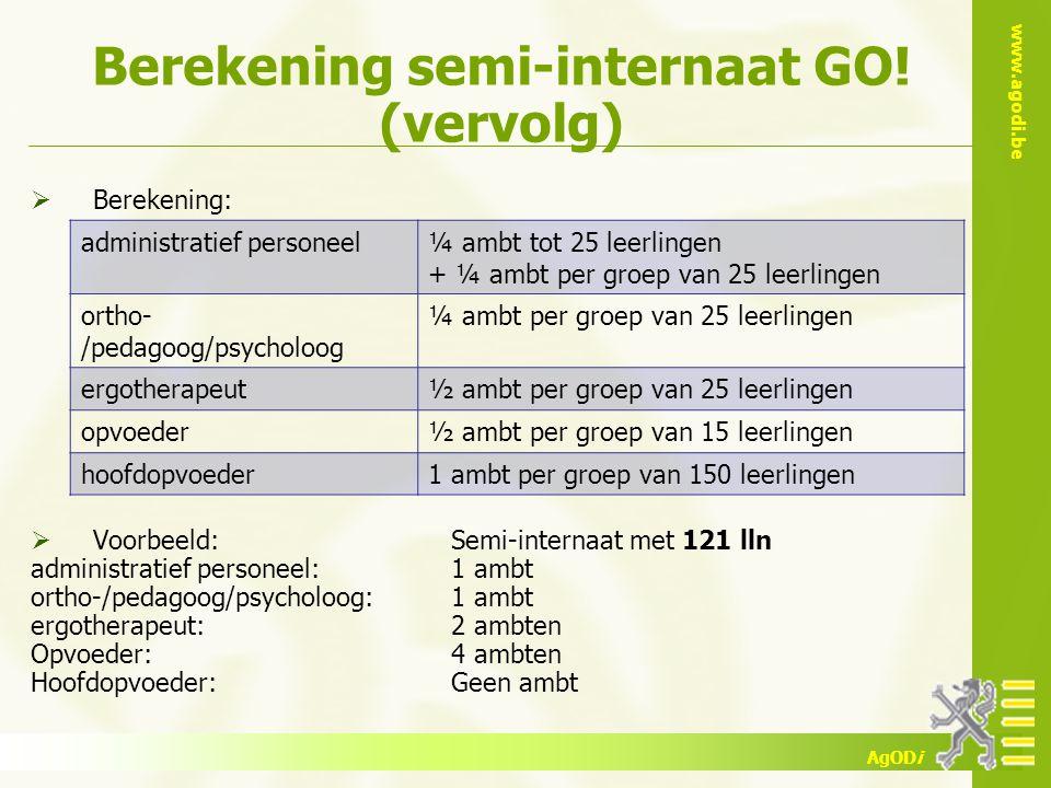 Berekening semi-internaat GO! (vervolg)