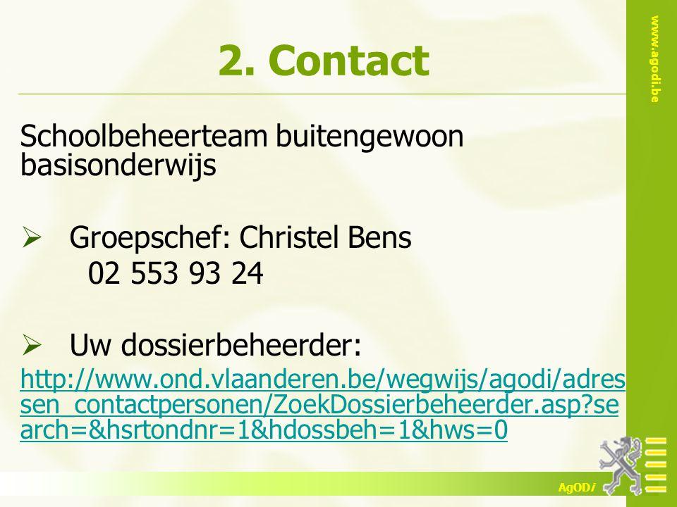 2. Contact Schoolbeheerteam buitengewoon basisonderwijs