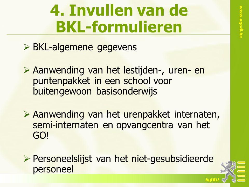 4. Invullen van de BKL-formulieren