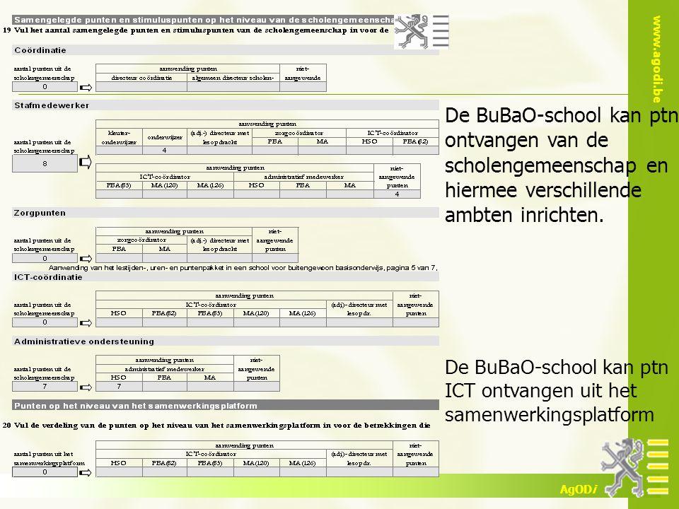 De BuBaO-school kan ptn ontvangen van de scholengemeenschap en hiermee verschillende ambten inrichten.