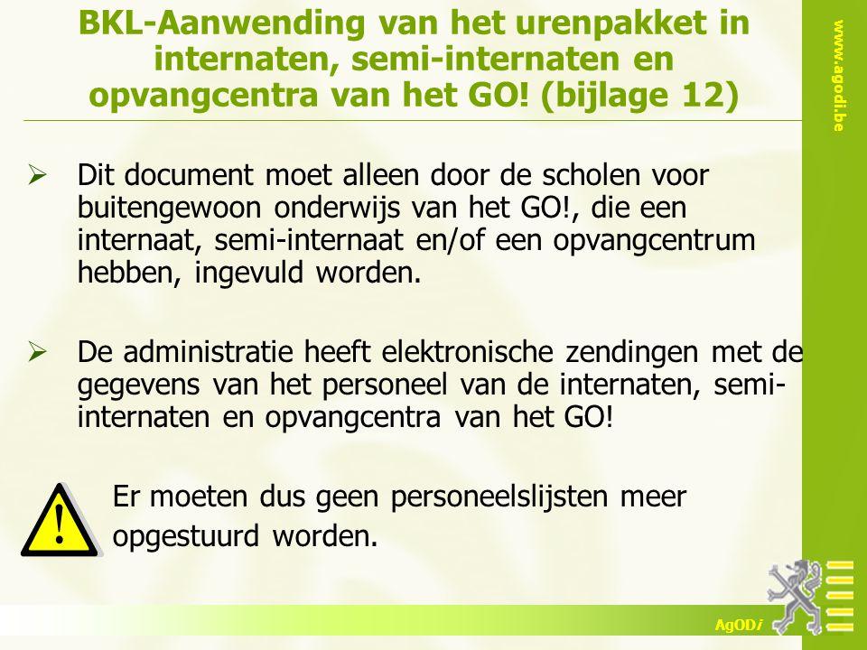 BKL-Aanwending van het urenpakket in internaten, semi-internaten en opvangcentra van het GO! (bijlage 12)