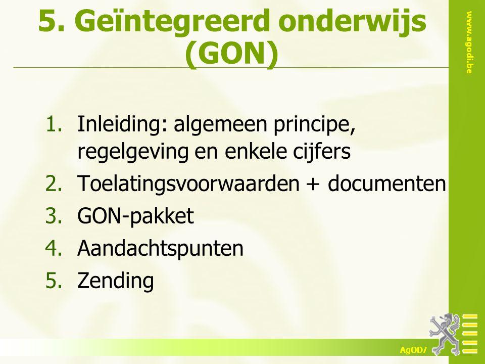 5. Geïntegreerd onderwijs (GON)