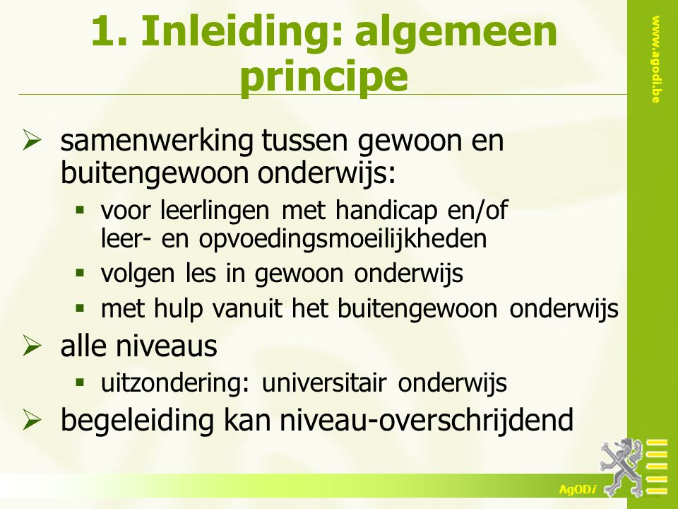 1. Inleiding: algemeen principe