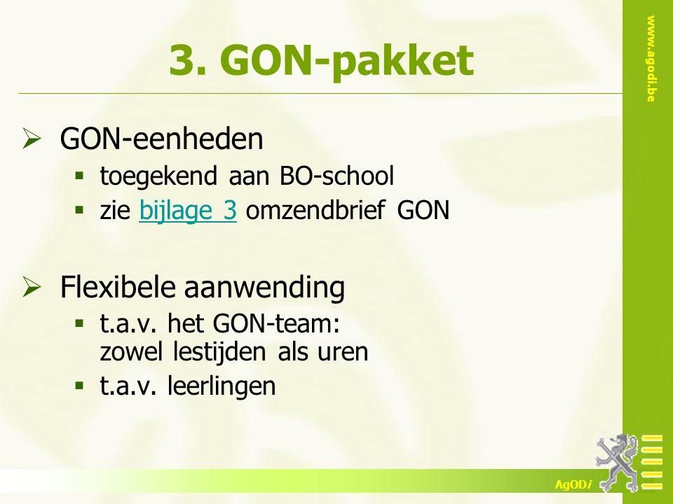 3. GON-pakket GON-eenheden Flexibele aanwending
