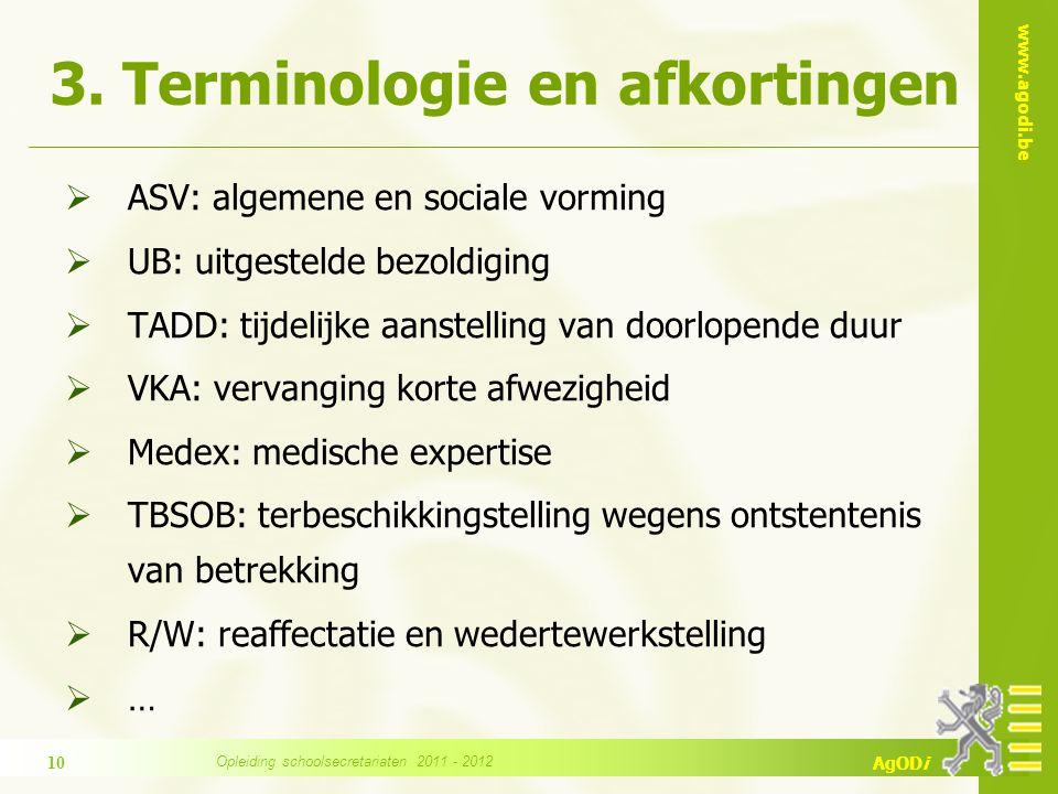 3. Terminologie en afkortingen