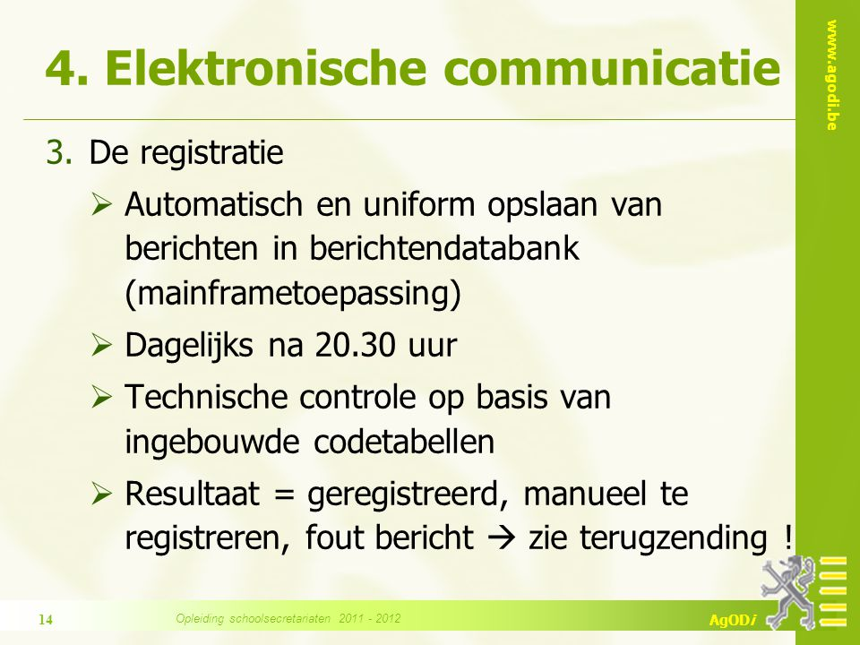 4. Elektronische communicatie