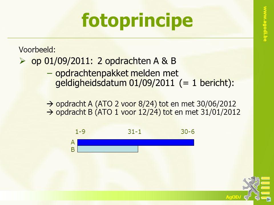 fotoprincipe op 01/09/2011: 2 opdrachten A & B