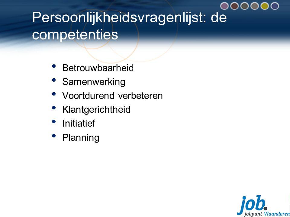 Persoonlijkheidsvragenlijst: de competenties
