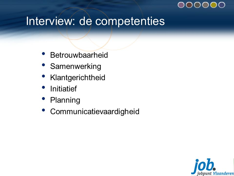 Interview: de competenties