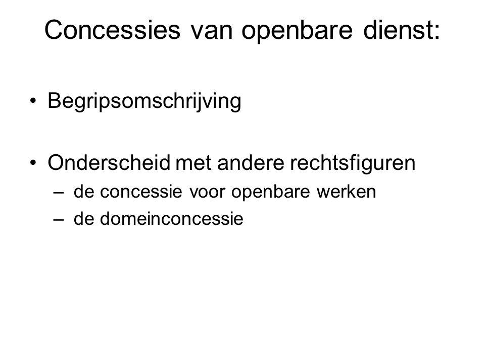 Concessies van openbare dienst: