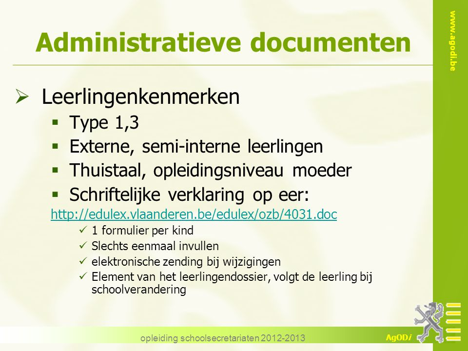 Administratieve documenten