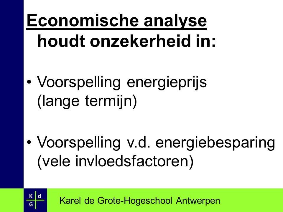 Economische analyse houdt onzekerheid in: