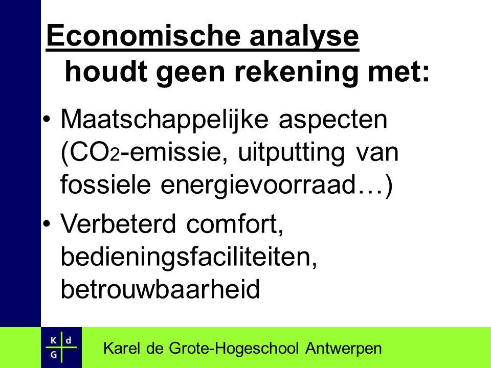 Economische analyse houdt geen rekening met:
