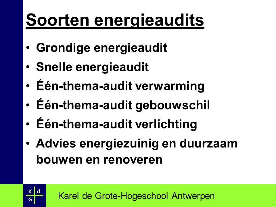 Soorten energieaudits