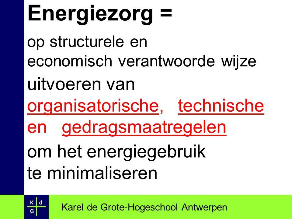 Energiezorg = op structurele en economisch verantwoorde wijze