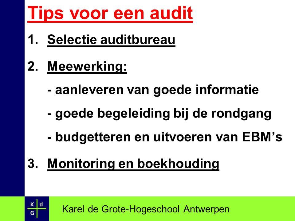 Tips voor een audit Selectie auditbureau