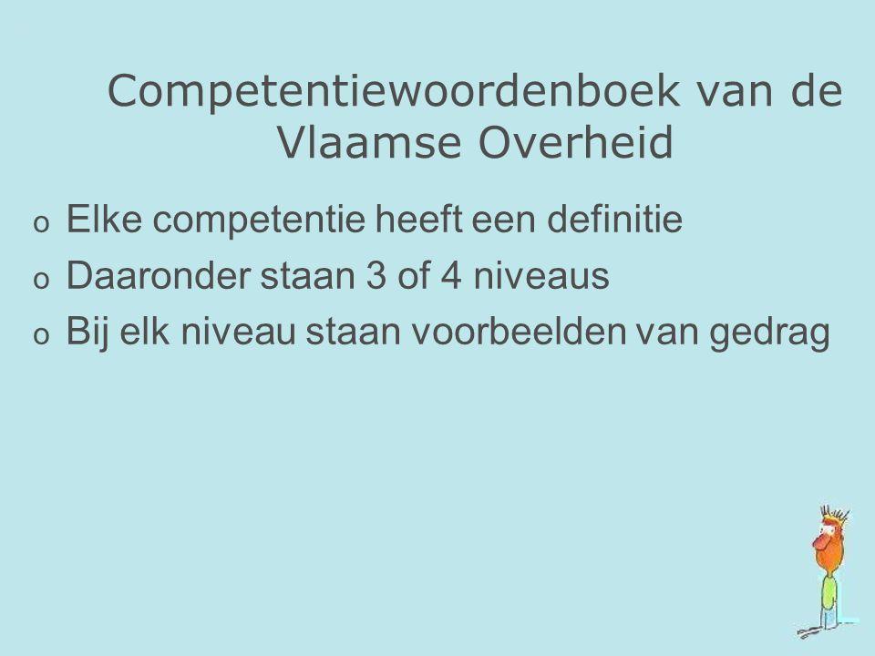 Competentiewoordenboek van de Vlaamse Overheid