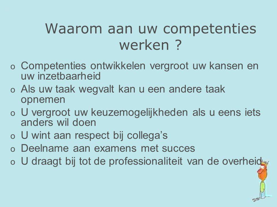 Waarom aan uw competenties werken