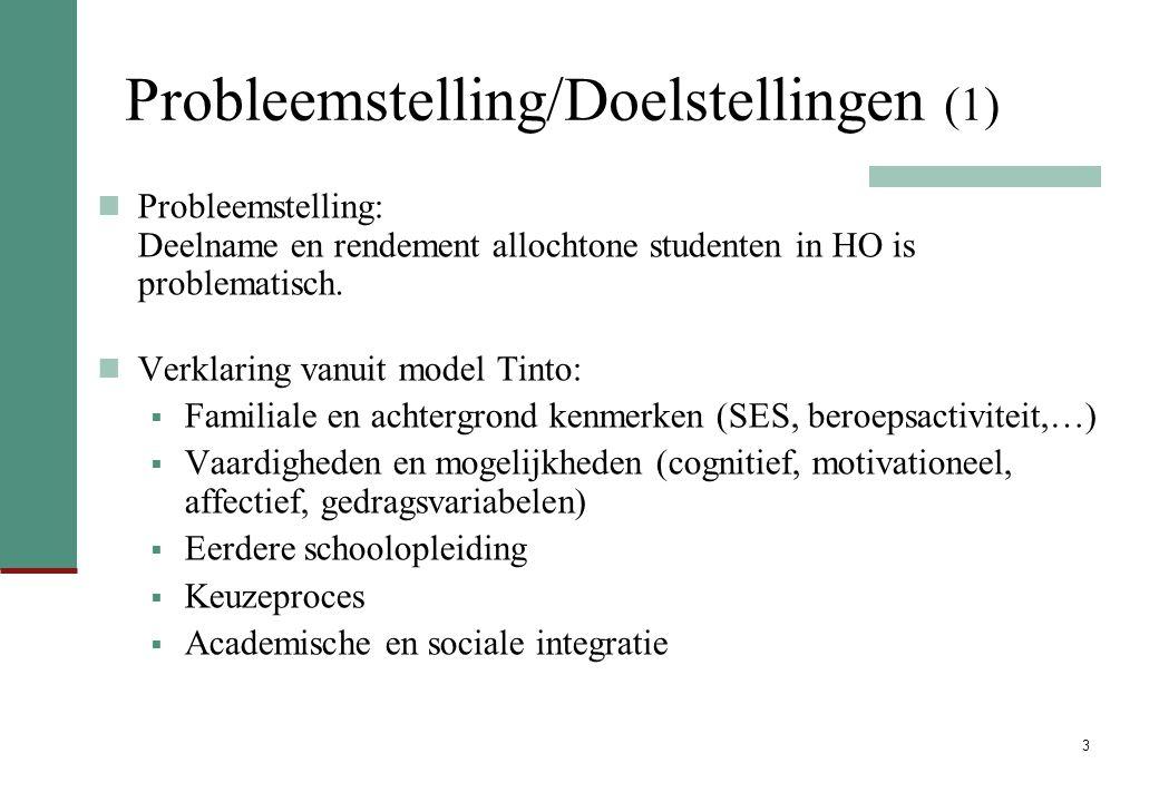 Probleemstelling/Doelstellingen (1)