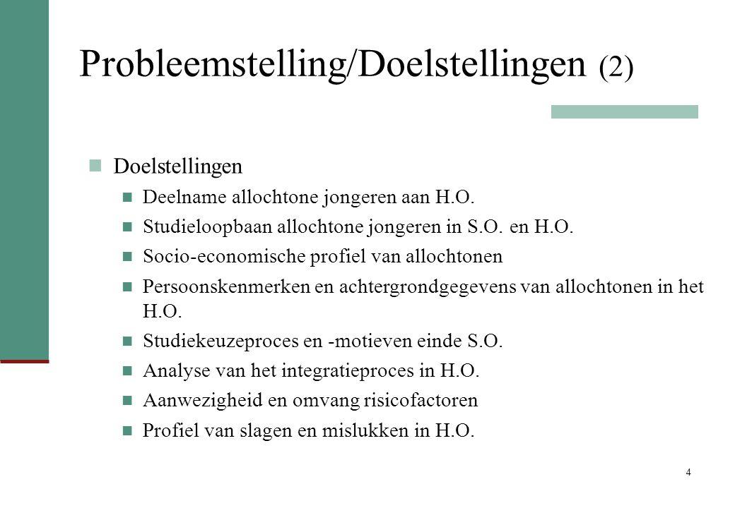 Probleemstelling/Doelstellingen (2)