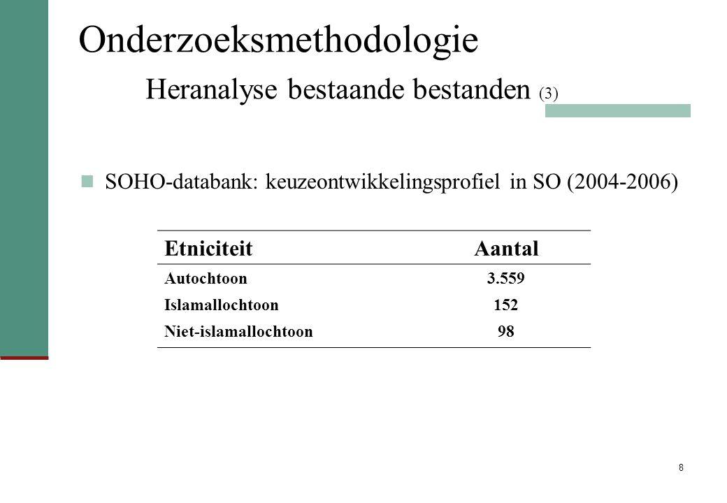 Onderzoeksmethodologie Heranalyse bestaande bestanden (3)