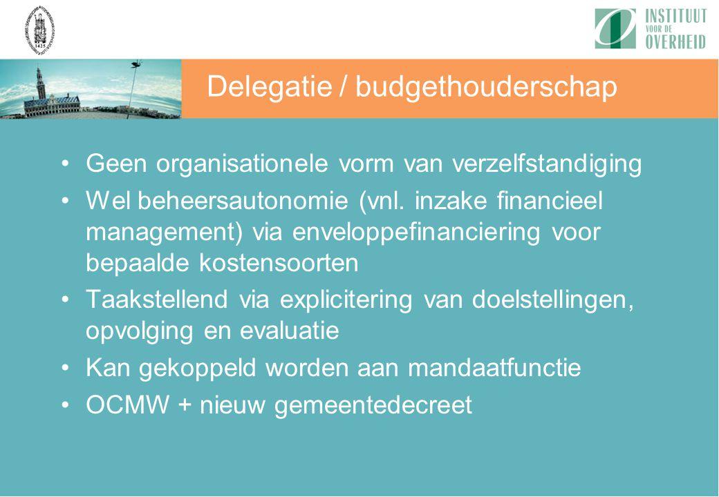 Delegatie / budgethouderschap