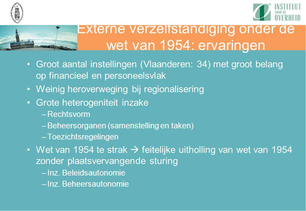 Externe verzelfstandiging onder de wet van 1954: ervaringen