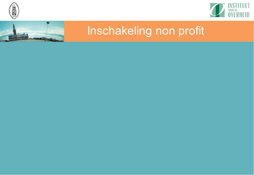 Inschakeling non profit