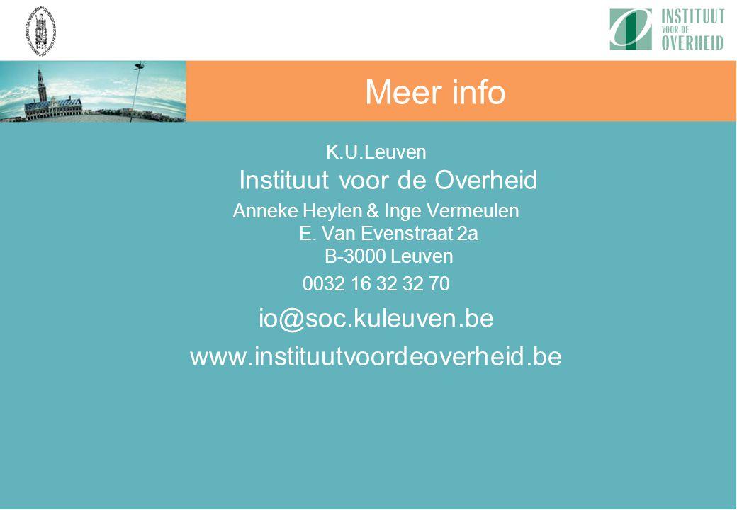 Meer info io@soc.kuleuven.be www.instituutvoordeoverheid.be