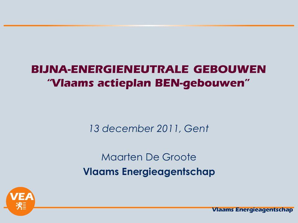 BIJNA-ENERGIENEUTRALE GEBOUWEN Vlaams actieplan BEN-gebouwen