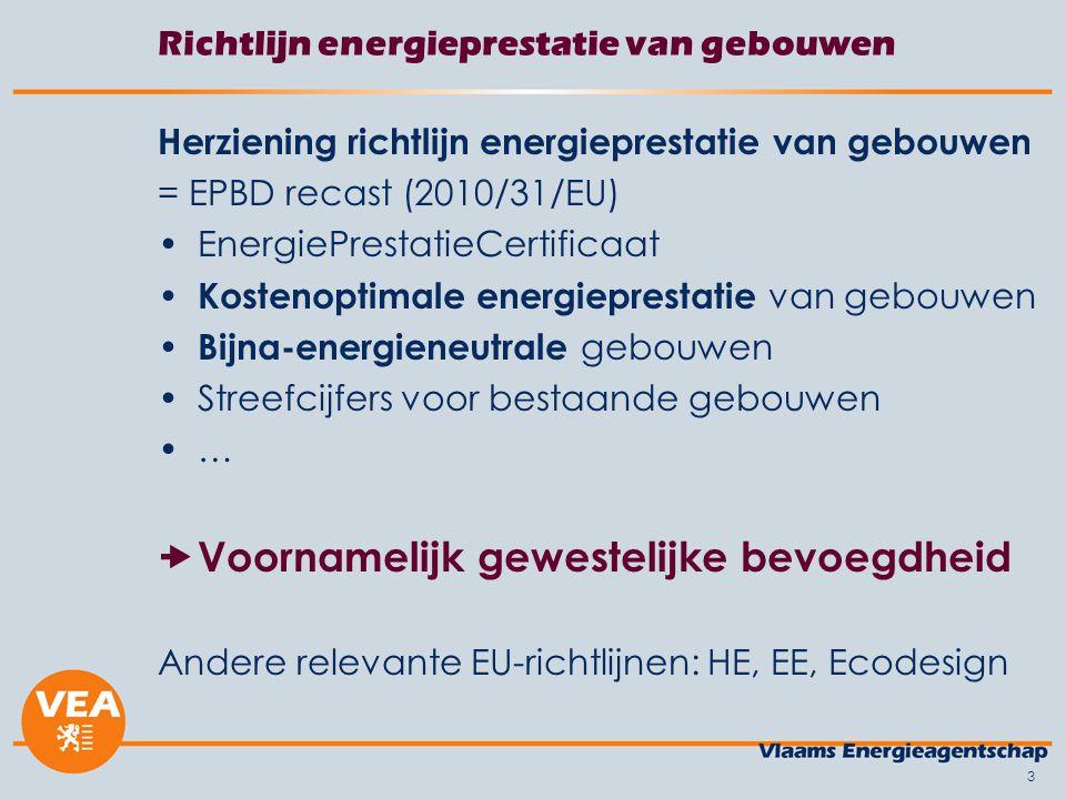 Richtlijn energieprestatie van gebouwen