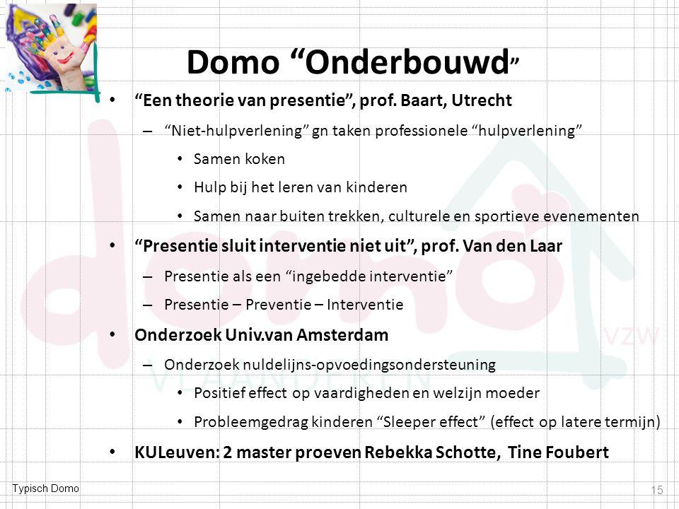 Domo Onderbouwd Een theorie van presentie , prof. Baart, Utrecht