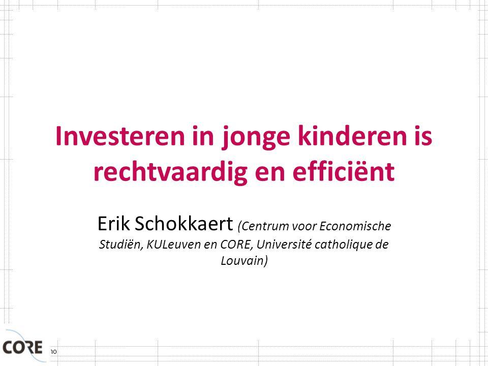 Investeren in jonge kinderen is rechtvaardig en efficiënt
