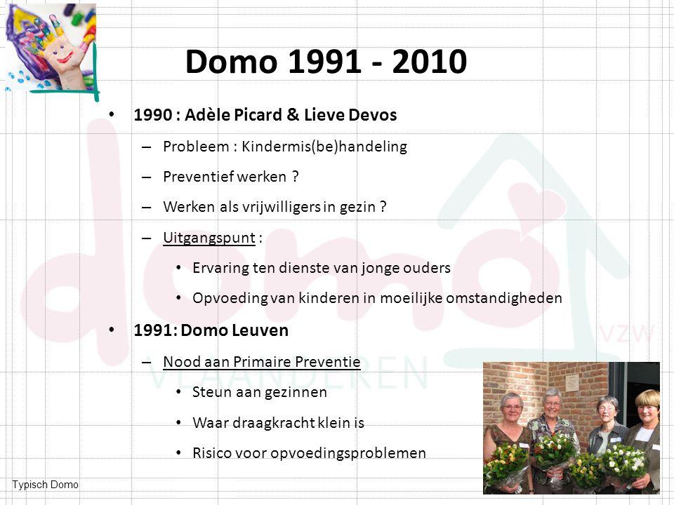 Domo 1991 - 2010 1990 : Adèle Picard & Lieve Devos 1991: Domo Leuven