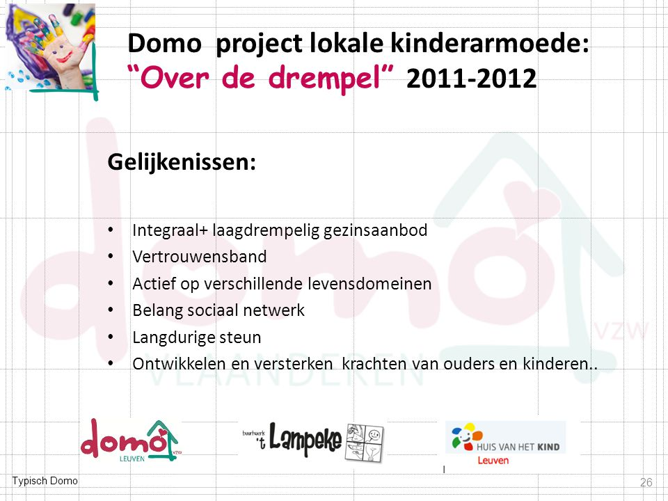 Domo project lokale kinderarmoede: Over de drempel 2011-2012