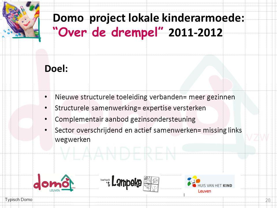 Domo project lokale kinderarmoede: Over de drempel 2011-2012