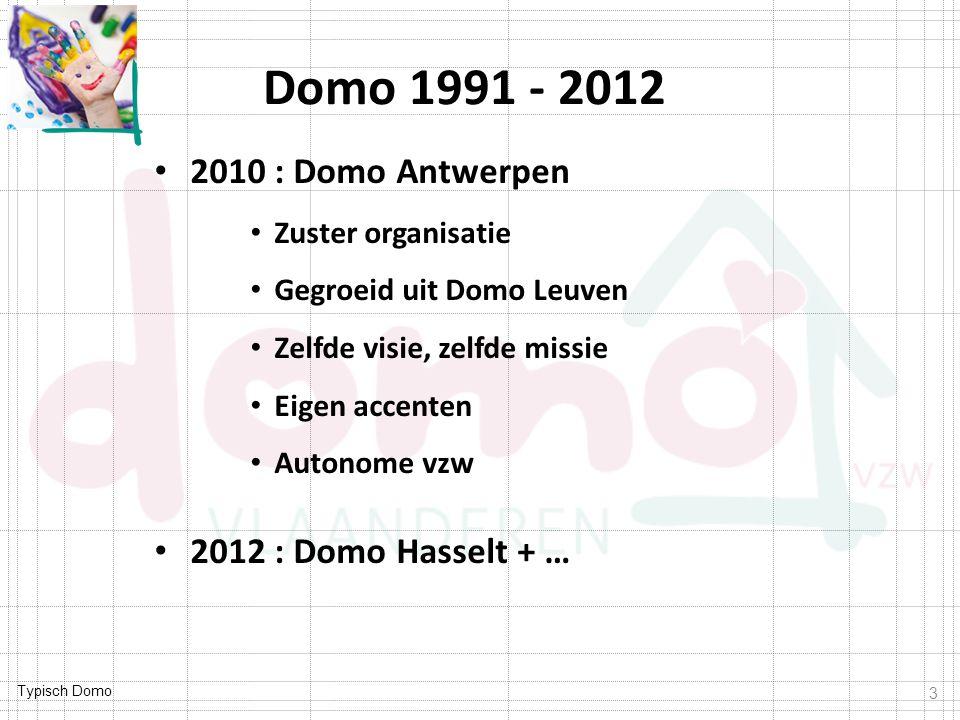 Domo 1991 - 2012 2010 : Domo Antwerpen 2012 : Domo Hasselt + …