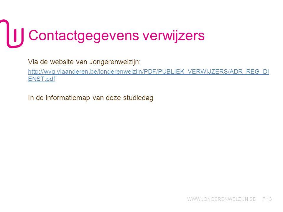 Contactgegevens verwijzers