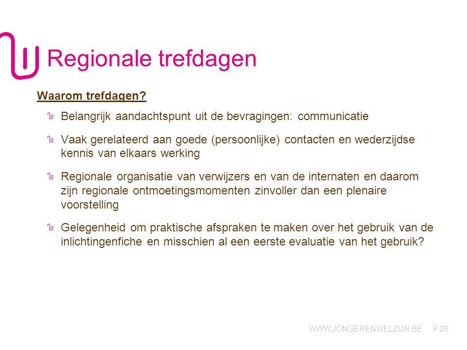 Regionale trefdagen Waarom trefdagen