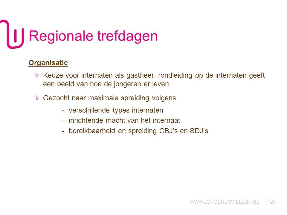 Regionale trefdagen Organisatie