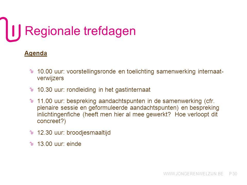 Regionale trefdagen Agenda
