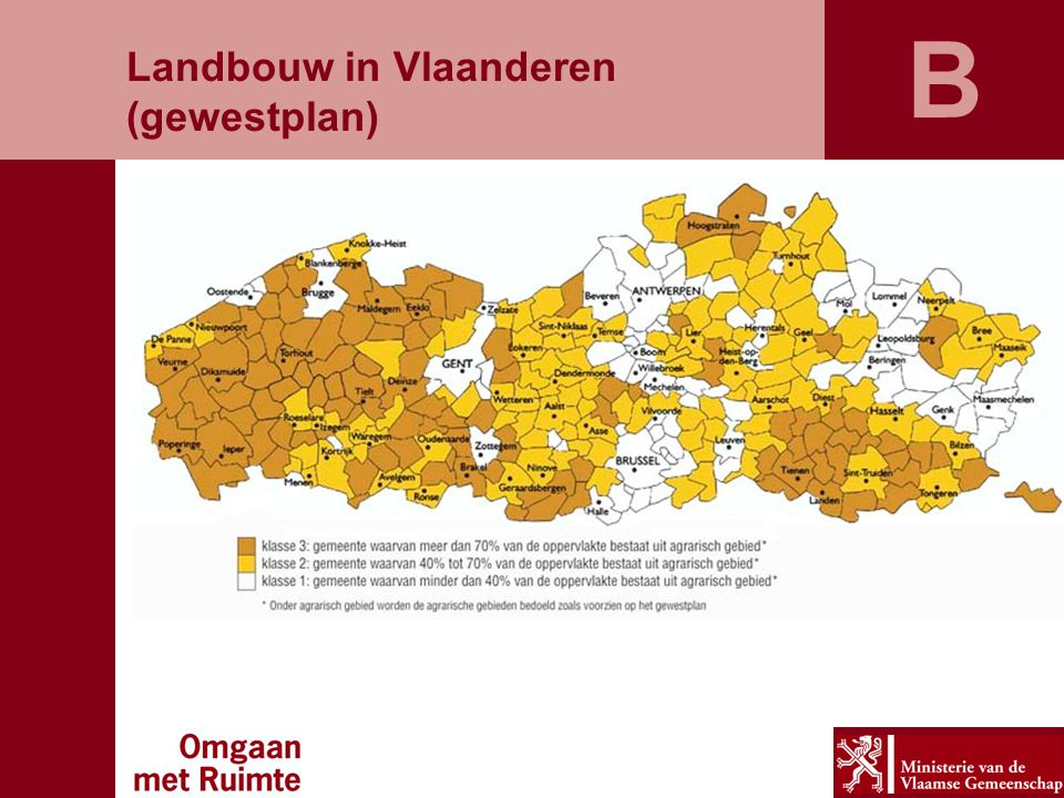 B Landbouw in Vlaanderen (gewestplan)