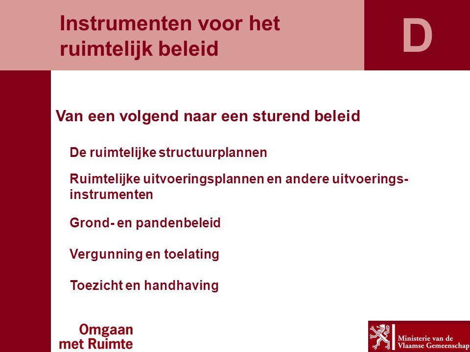 D Instrumenten voor het ruimtelijk beleid
