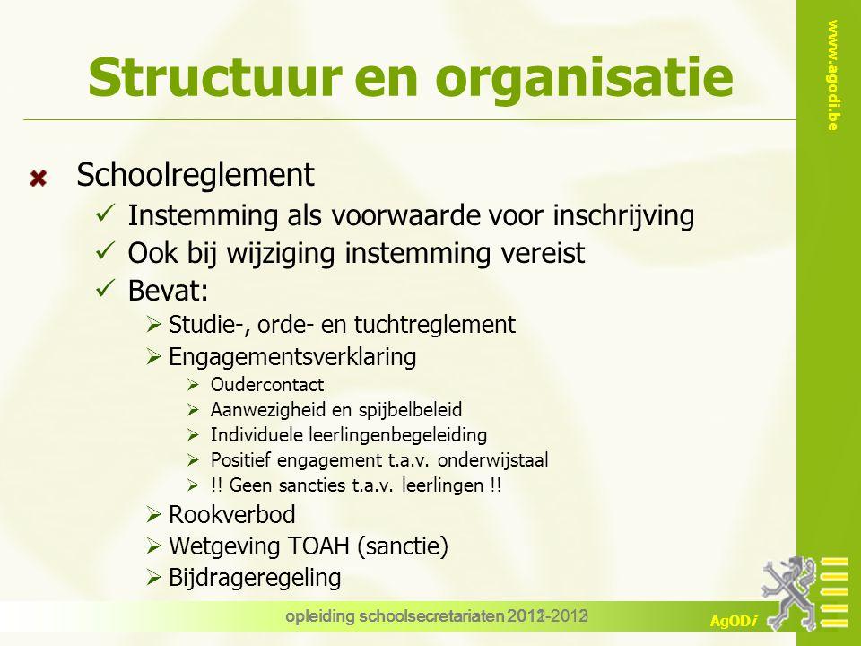 Structuur en organisatie