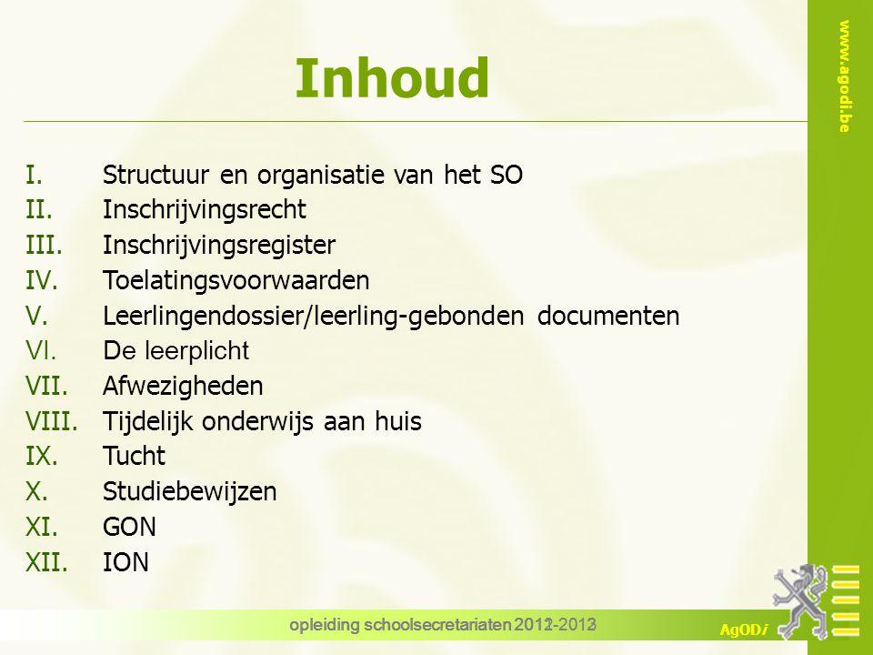 Opleiding voor schoolsecretariaten - Schooljaar 2012-2013