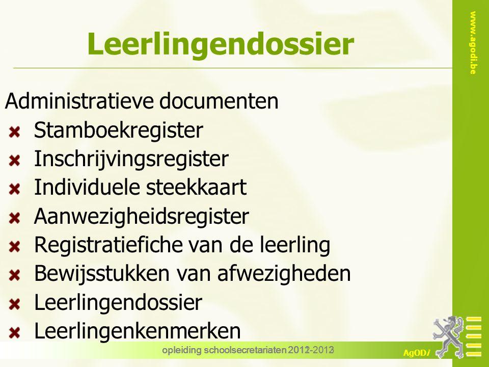 Leerlingendossier Administratieve documenten Stamboekregister