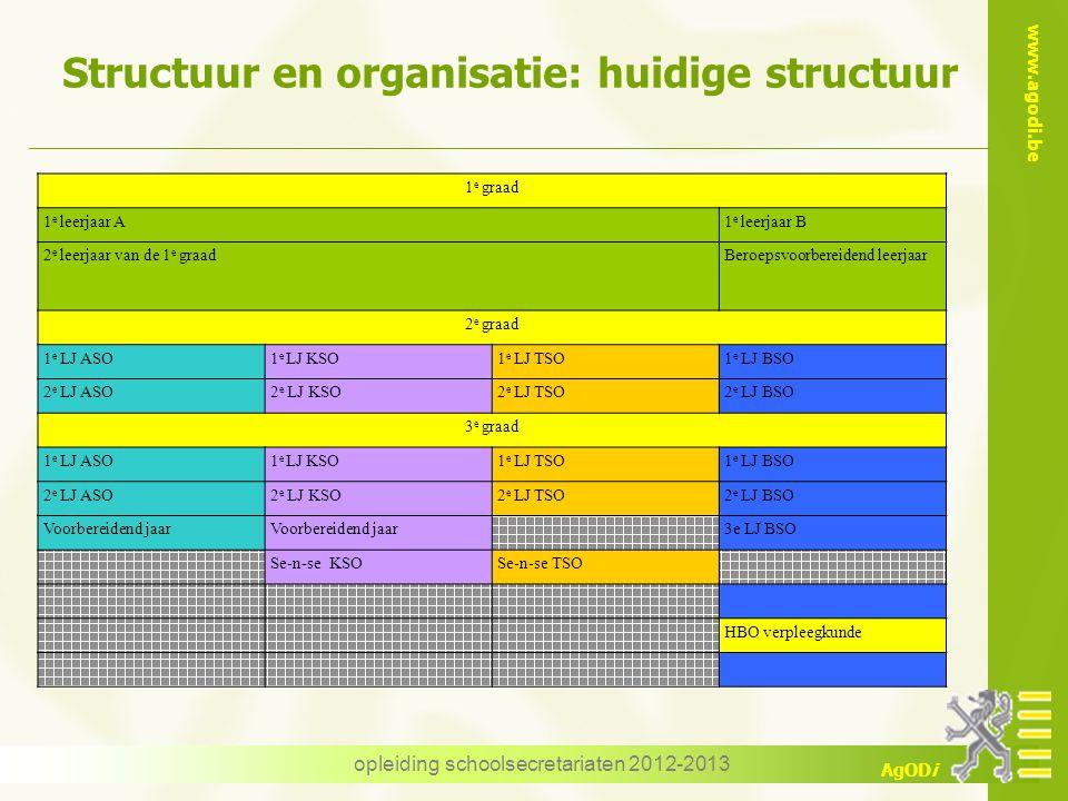 Structuur en organisatie: huidige structuur