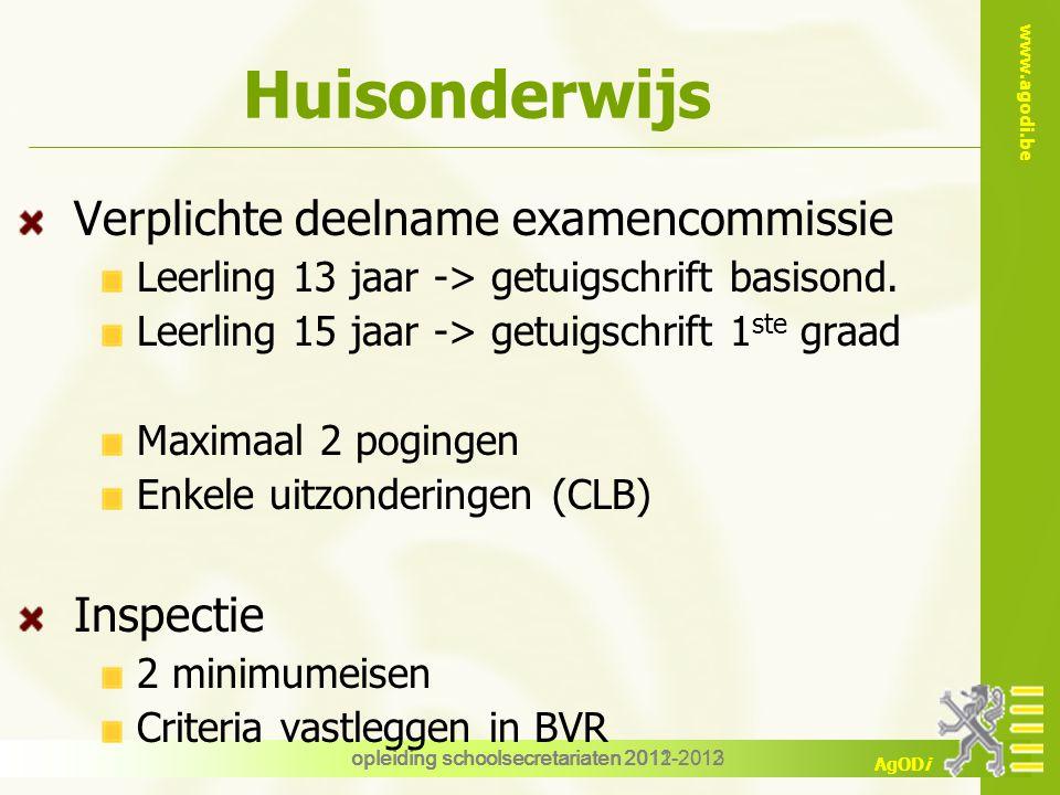 Huisonderwijs Verplichte deelname examencommissie Inspectie